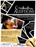 Poster for Hamilton Philharmonic Youth Orchestra Auditions
