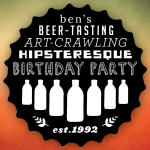 A badge for a birthday celebration
