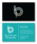 Business Card for Bruce Barrett Photography