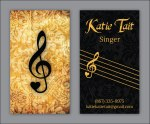 Business card for singer Katie Tait
