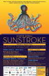 A poster for Sunstroke, a large summer music festival in downtown Whitehorse.