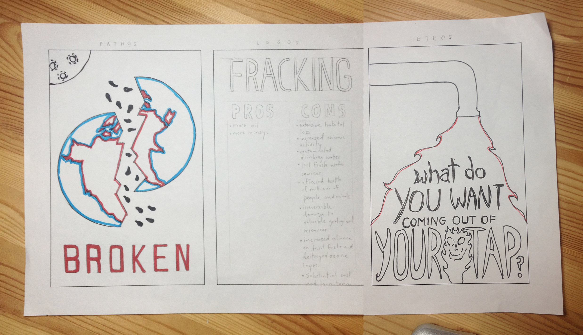 anti fracking poster the design process forrest media after playing around hand drawn ideas i decided to move things onto the computer and try a few more ideas the methods of logos and ethos were