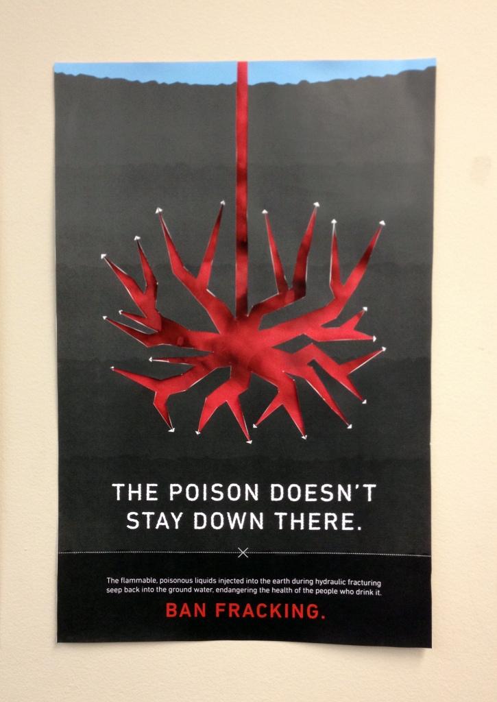 Printed Fracking Poster